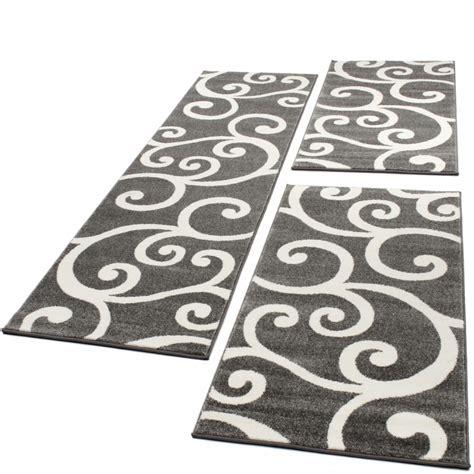 ensemble de tapis  pieces gris blanc pcs tapis