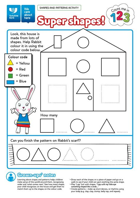 free numeracy worksheet printable colouring in sheet count me in 123 shapes and patterns