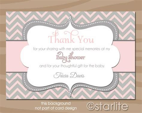 How To Write Thank You Cards For Baby Shower by Baby Shower Thank You Card Baby Shower Thank By