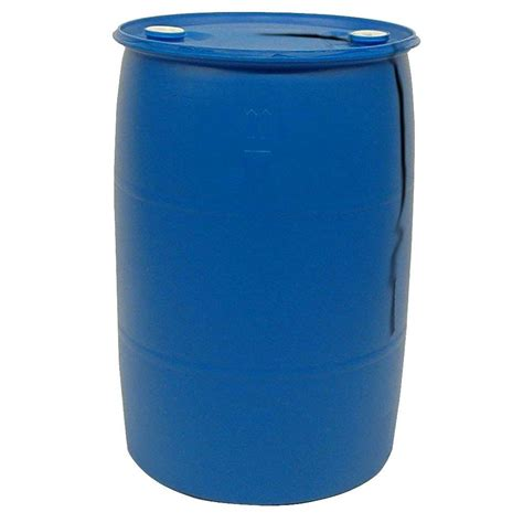 gal blue industrial plastic drum pth  home depot