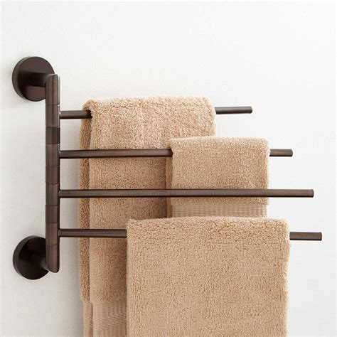 colvin quadruple swing arm towel bar bathroom