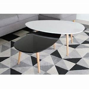 Maison Du Monde Table Gigogne : amazing table gigogne laqu blanc noir x with tables gigognes maison du monde ~ Teatrodelosmanantiales.com Idées de Décoration