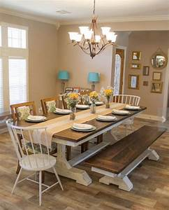 Dining Room. 2017 antique farmhouse dining room tables ...