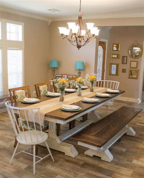 Dining Room. top modern country farm table dining room