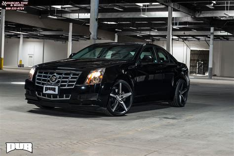 cadillac cts dub lace  wheels black machined  dark tint