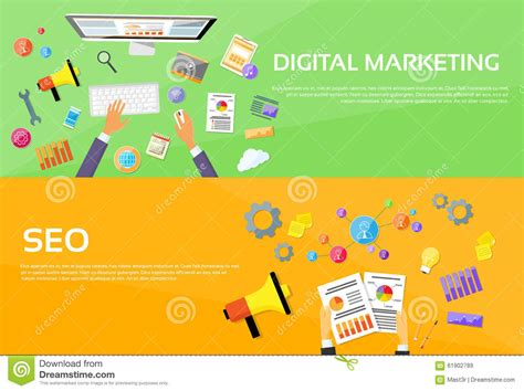 Seo Digital - seo digital marketing web designer workplace stock vector