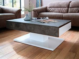 Couchtisch Weiß Matt : lalia ii couchtisch beton dekor matt wei lackiert ~ Orissabook.com Haus und Dekorationen