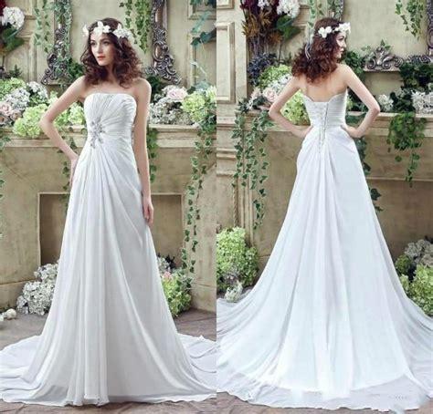 2016 chiffon wedding dresses strapless