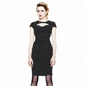 robe crayon femme hell bunny noir a pois vintage retro With robe a pois femme