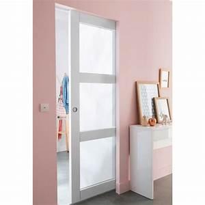 porte galandage en verre portes coulissantes pinterest With porte de garage et porte intérieure en verre