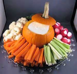 Puking Pumpkin Guacamole Cheese by 42 Creative Halloween Food Ideas
