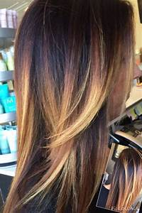 Light Hair With Lowlights Dark And Light Balayage Highlights With Dark Root