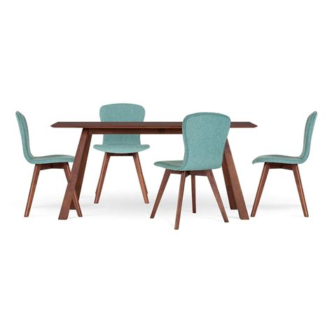 cult living hudson dining set with teal seat cult uk