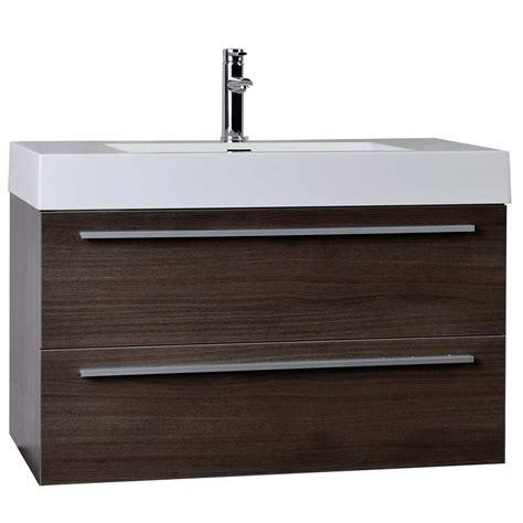 35 5 quot modern bathroom vanity grey oak wall mount free