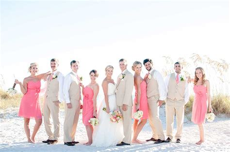 a coral beach wedding at grand plaza hotel in st pete