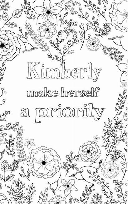 Kimberly Adult Coloring Personalized Personalised Nobel Word