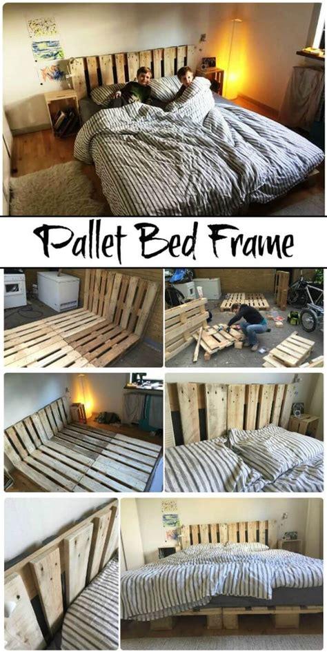 diy pallet bed frame ideas  step  step plans