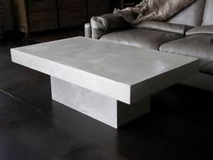 Table En Béton Ciré : table basse beton cire fly ~ Premium-room.com Idées de Décoration