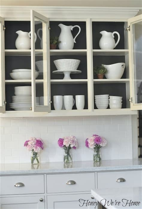 how to paint inside kitchen cabinets the power of paint inside cabinets cupboards drawers