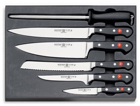 wusthof classic  piece chefs knife set