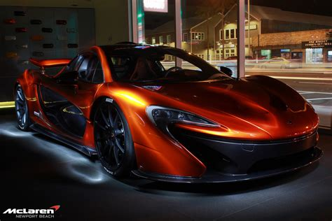 Mclaren P1 Poses With F1 Car In California