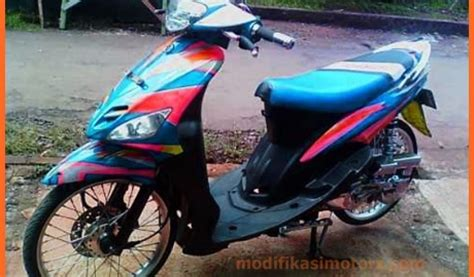 Modifikasi Mio 2017 by Modifikasi Mio Sporty Standar Warna Biru 2017