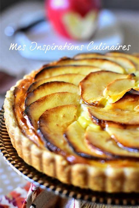 tarte aux pommes 224 la cr 232 me p 226 tissi 232 re le cuisine de samar