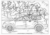 Colouring Trip Coloring Pages Road Cars Going Campervan Trips Disney Summer Worksheets Esl Transport Travel Printable Holidays Activity Template Tent sketch template