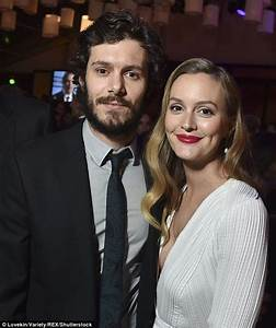 Leighton Meester cosies up to husband Adam Brody at FOX ...