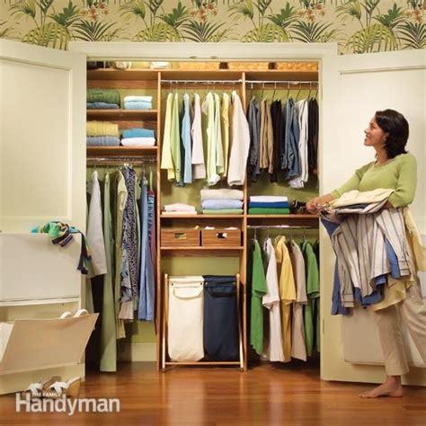 closet organization a simple shelf and rod system