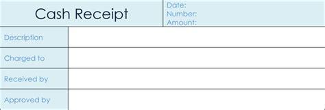 cash receipt templates  excel word