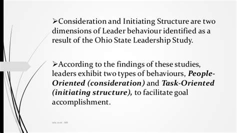 ohio michigan state theories  leadership