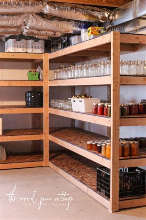 Basement Pantry Ideas Diy Basement Shelving Shed Organization Basement