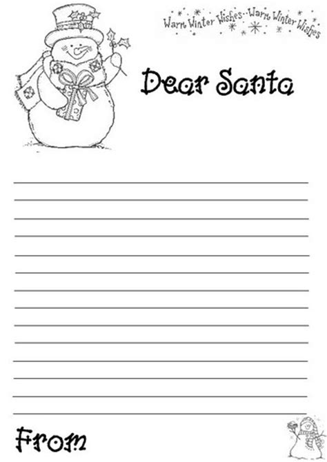 dear santa letter template free template design printable for and adults 69630