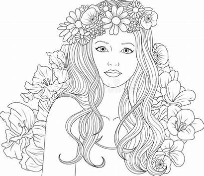 Coloring Pages Graphic Vector Background Adult Illustration