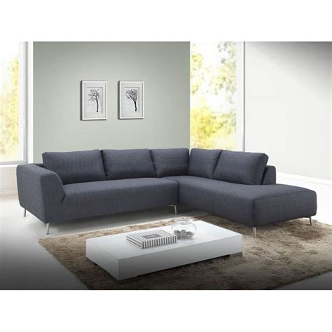 canapé en tissu design canapé d 39 angle côté droit design 5 places avec méridienne
