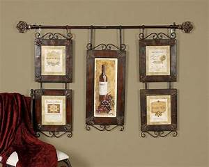 Large wine collage french country tuscan wall decor