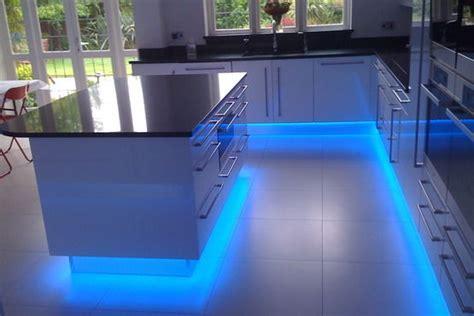 Blue LED Strip Light Sets For Kitchen Cabinet Counter