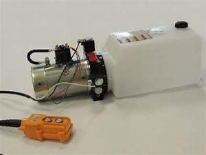 Hydraulic Power Unit Double Acting 12v Dump Trailer