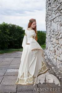 white dress quotthe accoladequot medieval wedding available in With white velvet wedding dress