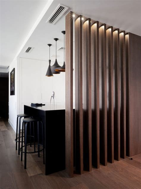 wood slat room dividers  add warmth   home