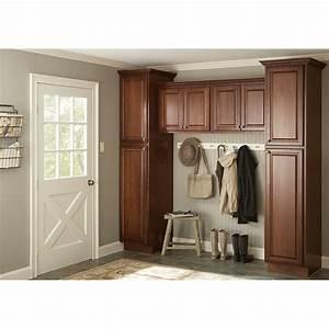 hampton bay kitchen cabinets cognac 901