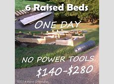 Build 6 Raised Beds in ONE DAY on a Budget Home Grown Fun