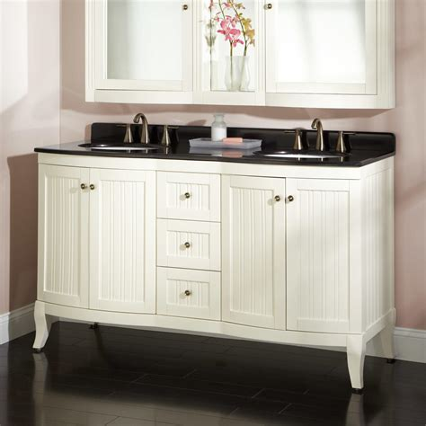 60 quot palmetto white vanity black granite