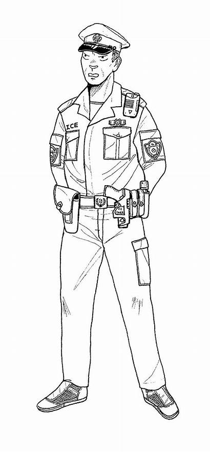 Police Coloring Policeman Pages Printable Deviantart Sheets