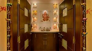 Pooja Room Designs in Hall - Pooja Room Home Temple