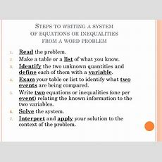 Ppt  Lesson 212 Using Systems Of Equations & Inequalities In The Real World Powerpoint