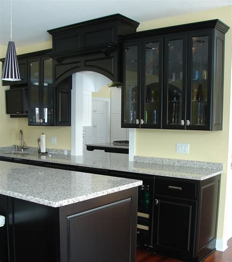 Black Cupboard by Black Cabinetry For Kitchen Look Decoration Channel