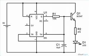 Fading led circuit diagram using ic 555 for Led fading circuit
