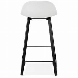 Tabouret Mi Hauteur : tabouret de bar chaise de bar mi hauteur design obeline mini blanc ~ Teatrodelosmanantiales.com Idées de Décoration